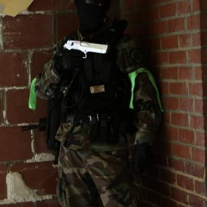 CQB-ing. A pic of the good ol' days, before I got into sniping.