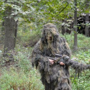 Testing out ghillie