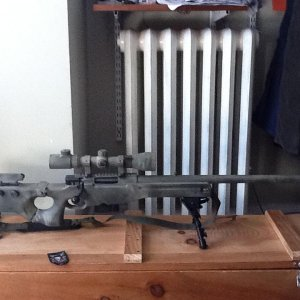 Side view of my rifle.