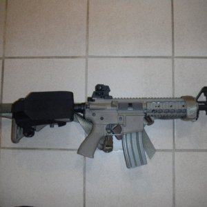 G&G Mk18    Currently shooting ~326fps    Pretty much stock, except for replacement motor connectors.    Attachments:  BLACHAWK! 3-point sling (tan)...