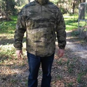 Soon I'll get 2 pairs of pants to match. One I will send to have ghillie netting sewn on and the other will be left plain.